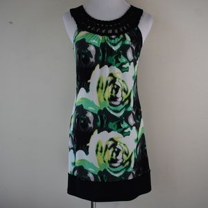Wrapper Size XS Sleeveless Watercolor Floral Dress